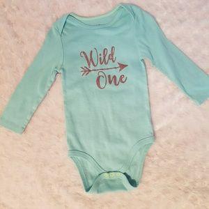 Baby girls Wild One long sleeve onsie